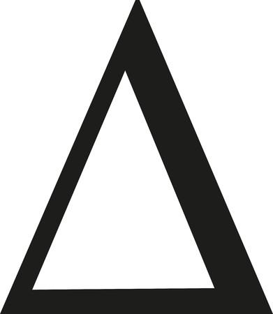 Delta sign Illustration