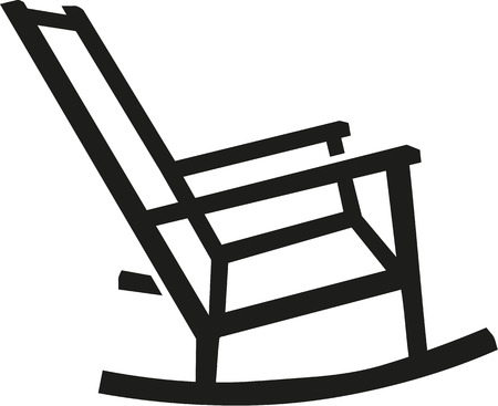 rocking chair: Rocking chair silhouette Illustration