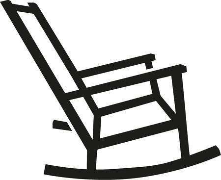 Rocking chair silhouette Illustration