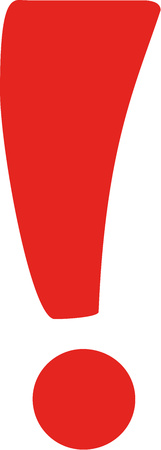 exclamation: Red exclamation mark Illustration