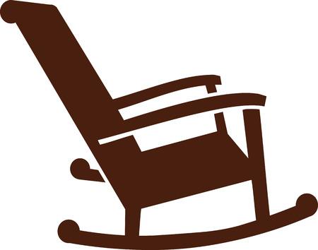 rocking chair: Rocking chair icon Illustration