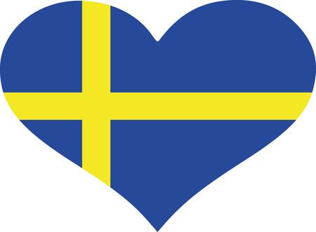 sweden flag: Sweden flag heart