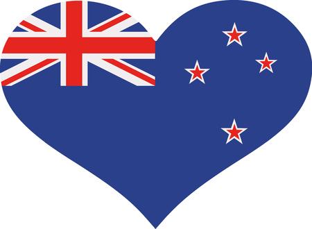 bandera de nueva zelanda: corazón de la bandera de Nueva Zelanda