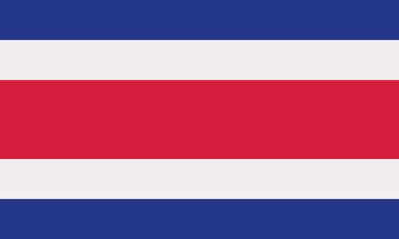 Costa Rica flag Illustration