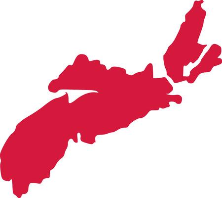 Nova Scotia province of canada Illustration