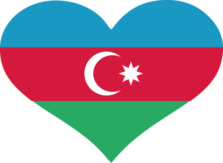 azerbaijanian: Azerbaijan flag heart