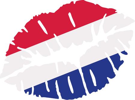 netherlands: Netherlands flag Kiss