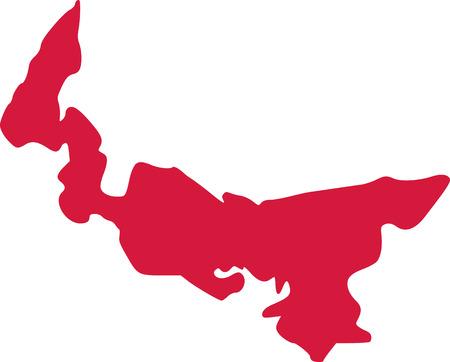 Prince edward island province of canada Ilustrace