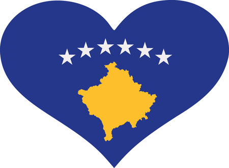 kos: Kos flag heart Illustration