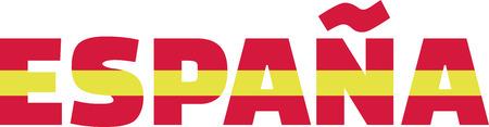 spanish flag: Spanish flag word espana