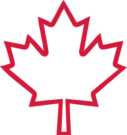 Canada maple leaf outline 矢量图像