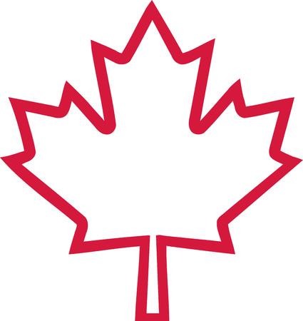 Canada maple leaf outline Illustration
