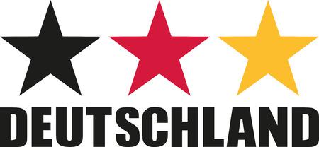 deutschland: Germany flag stars with Deutschland