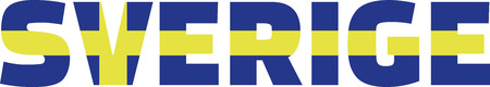 sverige: Sverige flag word - Sweden