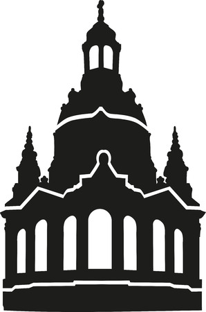basilica: Church of our lady frauenkirche silhouette Illustration