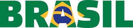 Brazil flag word brasil