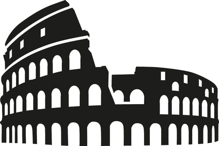 colosseum: Colosseum rome silhouette