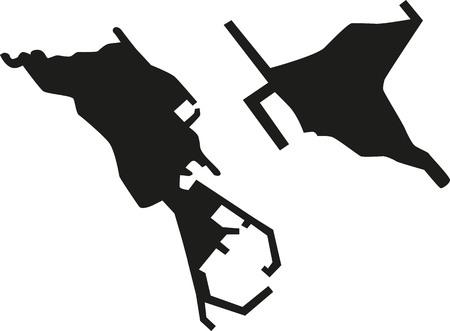 Heligoland silhouette