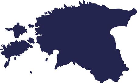 estonia: Estonia map Illustration