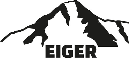 bernese: Eiger mountain silhouette with name