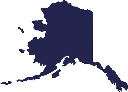Alaska state map