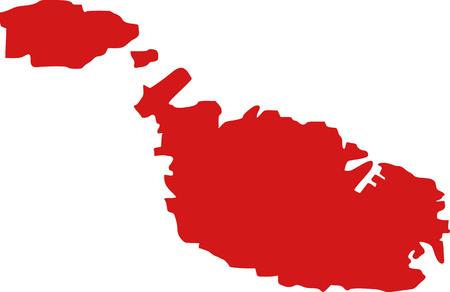 malta map: Malta map