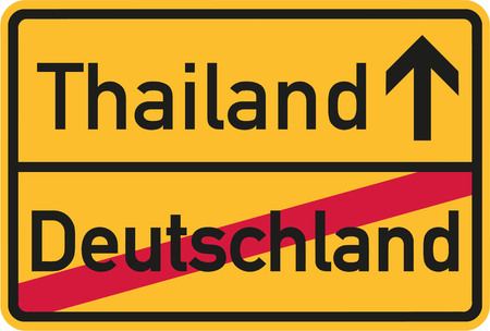 samui: Emigration from Germany to Thailand - german sign