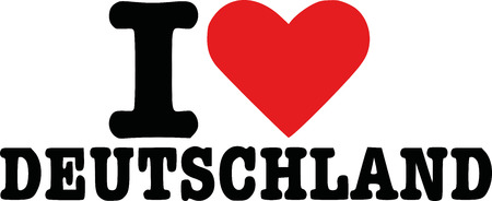 deutschland: I love deutschland - german Illustration