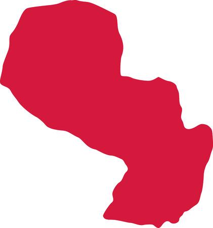 paraguay: Paraguay map