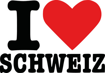 schweiz: I love switzerland - german schweiz