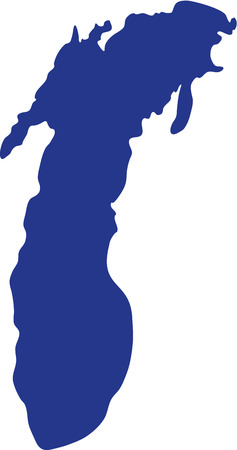 Het silhouet van Lake Michigan