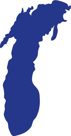 Lac Michigan silhouette