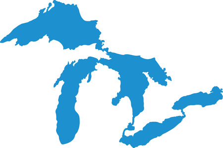 Great Lakes silhouettes