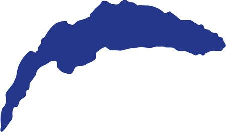 Lac Léman silhouette Banque d'images - 67947544