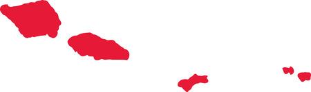 samoa: Samoa map Illustration