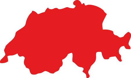 Switzerland map Illustration