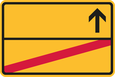 German place-name sign