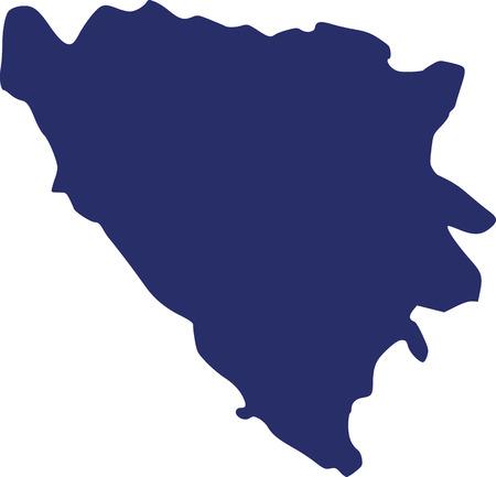 bosnia and herzegovina: Bosnia and Herzegovina map Illustration