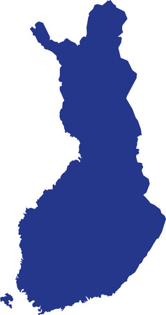 Finland map with aland