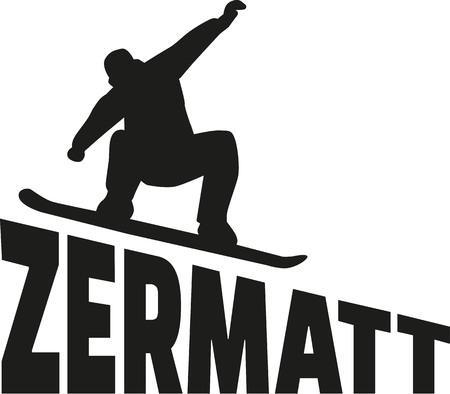 swiss alps: Zermatt Snowboarding