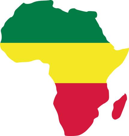 Africa with reggae flag