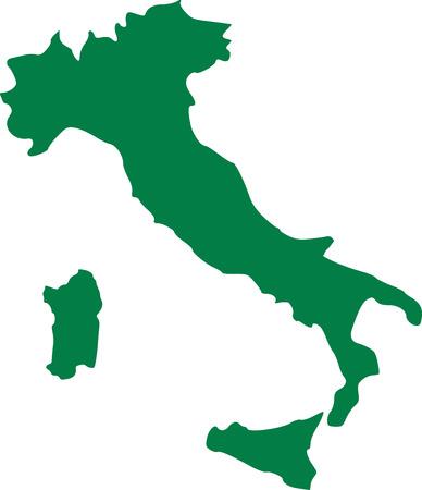 Italy map with sicily and sardinia