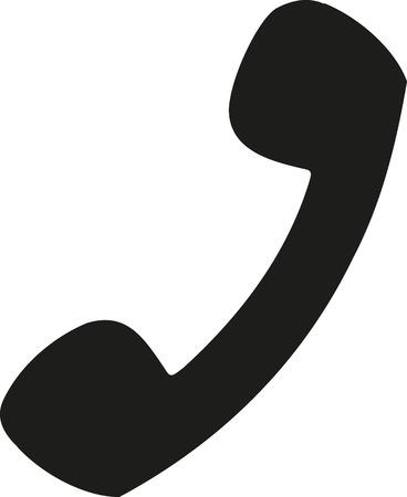 handset: Telephone handset Illustration