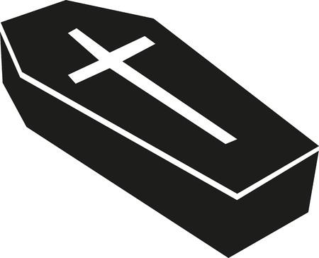 Casket with big cross