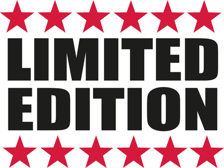 limited: Limited edition with red stars Illustration