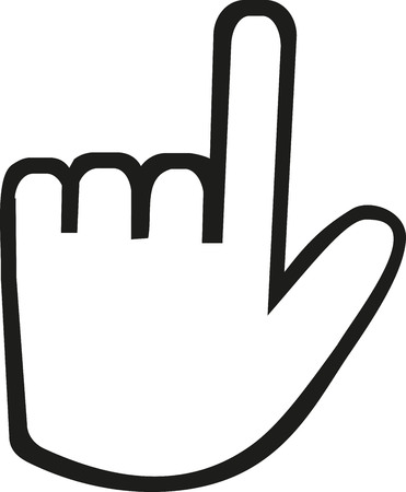 index: Hand icon with index finger Illustration