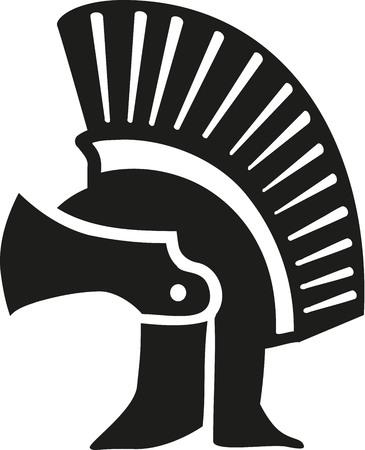 Greek helmet Illustration