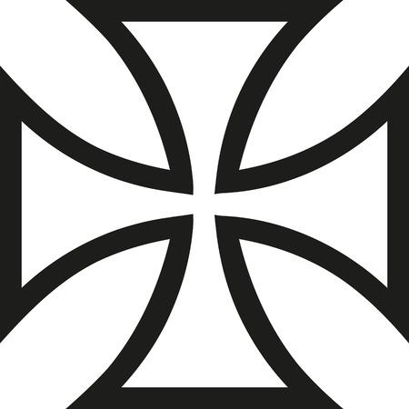 Eisenkreuz Kontur Standard-Bild - 67594852
