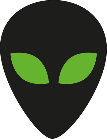 extraterrestrial: Extraterrestrial head with green eyes