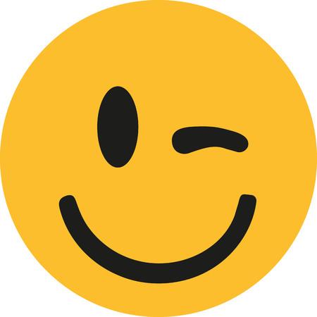 Winking yellow smiley